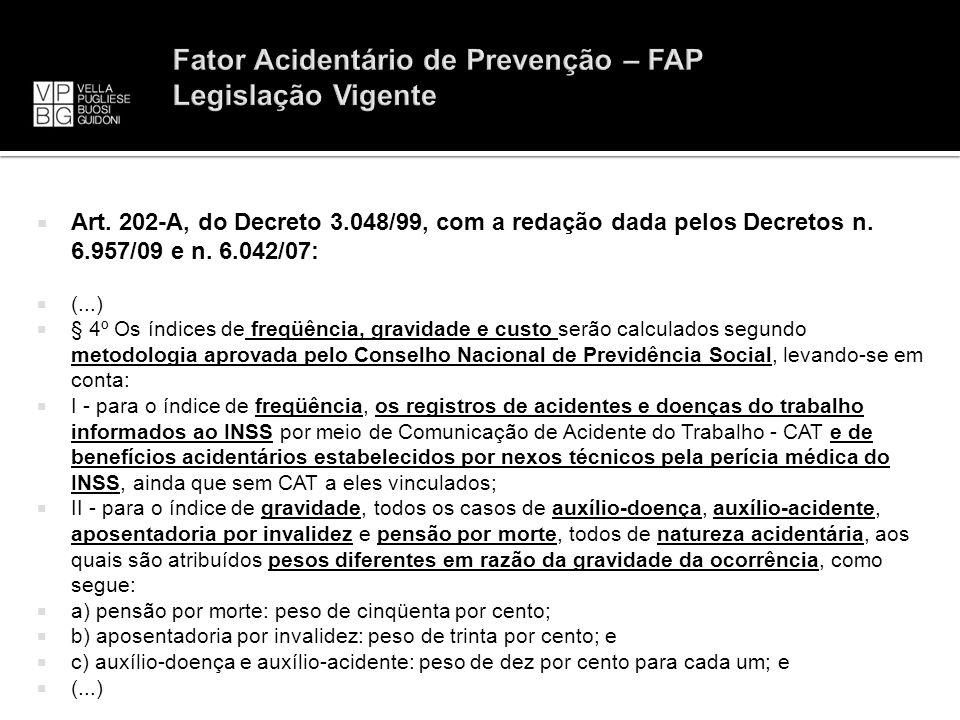 Fator Acidentário de Prevenção – FAP Legislação Vigente