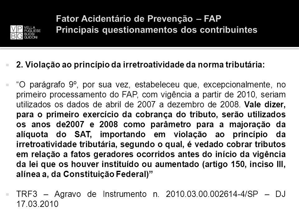 Fator Acidentário de Prevenção – FAP