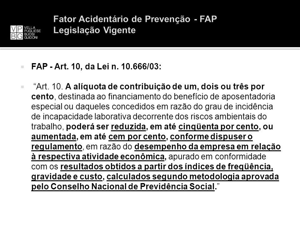 Fator Acidentário de Prevenção - FAP Legislação Vigente