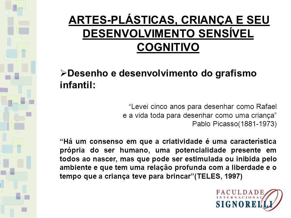 ARTES-PLÁSTICAS, CRIANÇA E SEU DESENVOLVIMENTO SENSÍVEL COGNITIVO