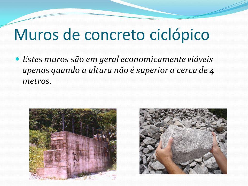 Muros de concreto ciclópico