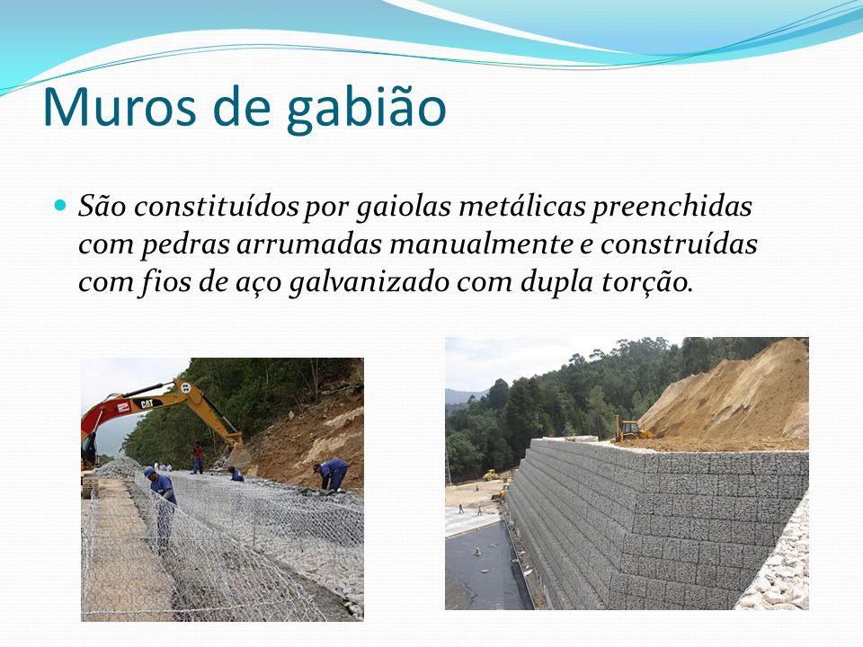 Muros de gabião