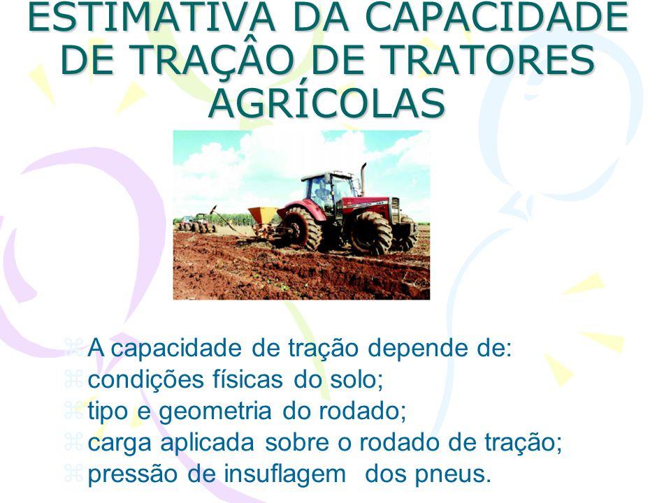 ESTIMATIVA DA CAPACIDADE DE TRAÇÂO DE TRATORES AGRÍCOLAS