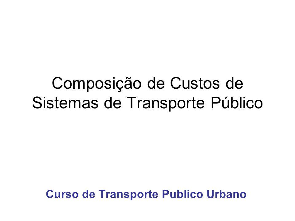 Composição de Custos de Sistemas de Transporte Público