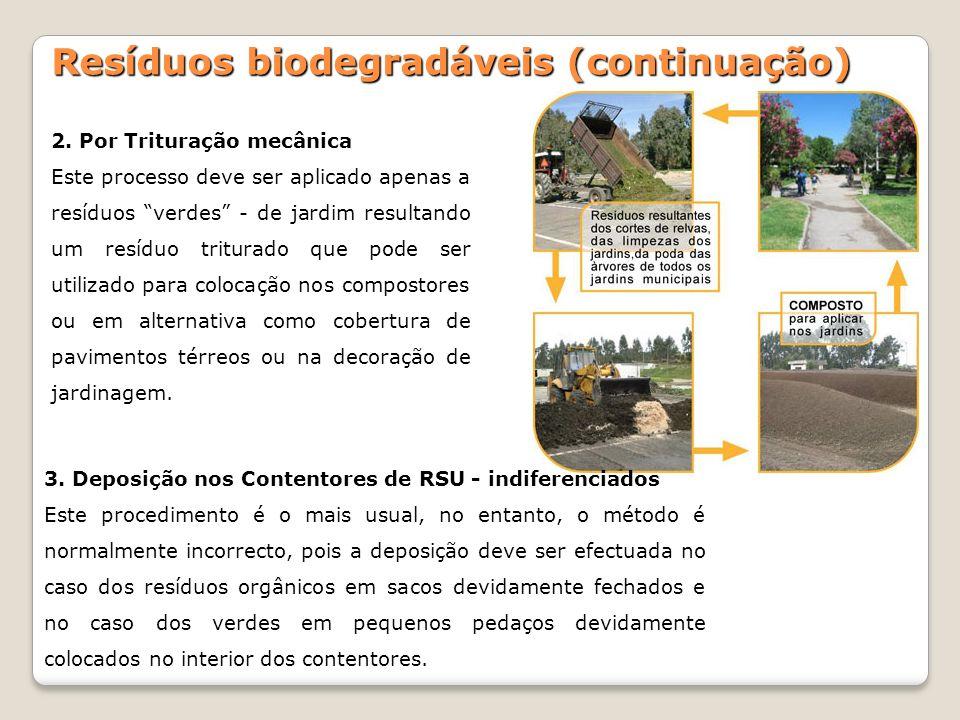 Resíduos biodegradáveis (continuação)