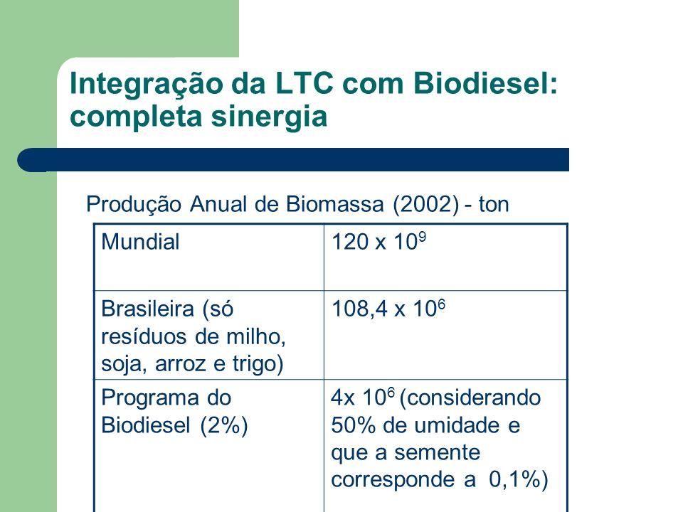 Integração da LTC com Biodiesel: completa sinergia