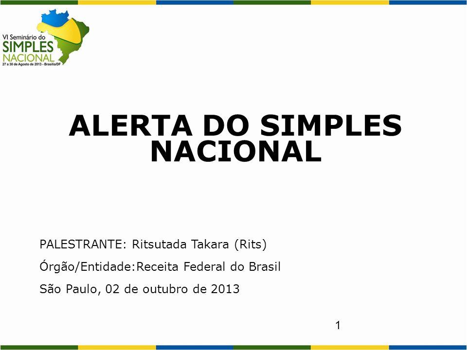 ALERTA DO SIMPLES NACIONAL