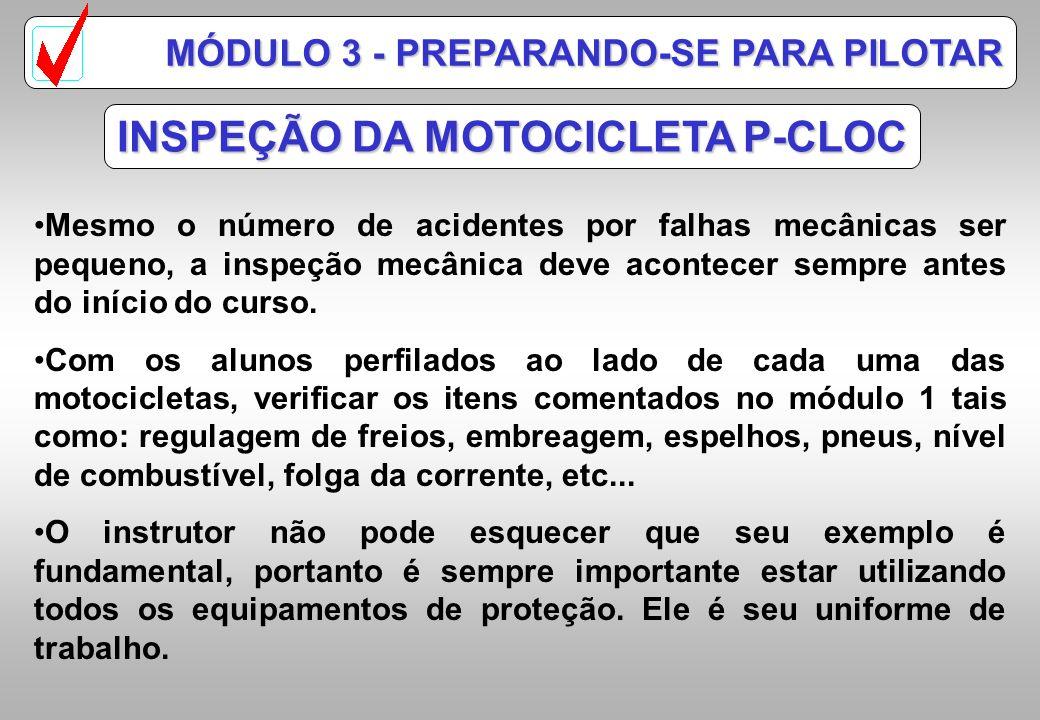 INSPEÇÃO DA MOTOCICLETA P-CLOC