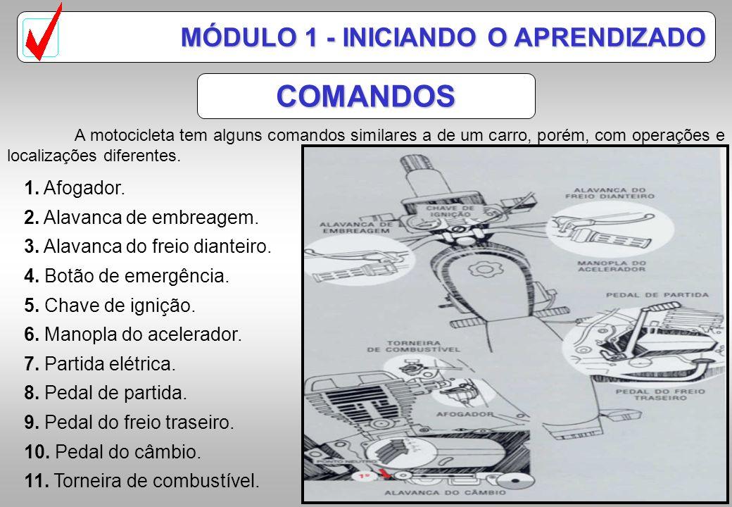 COMANDOS MÓDULO 1 - INICIANDO O APRENDIZADO 1. Afogador.