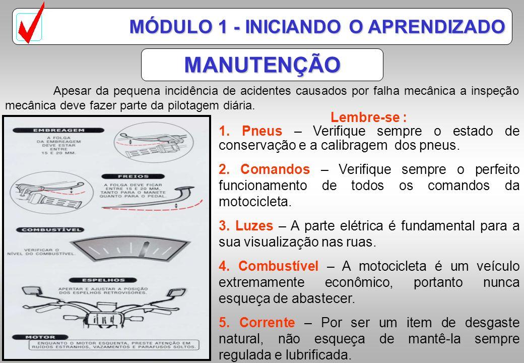 MANUTENÇÃO MÓDULO 1 - INICIANDO O APRENDIZADO Lembre-se :