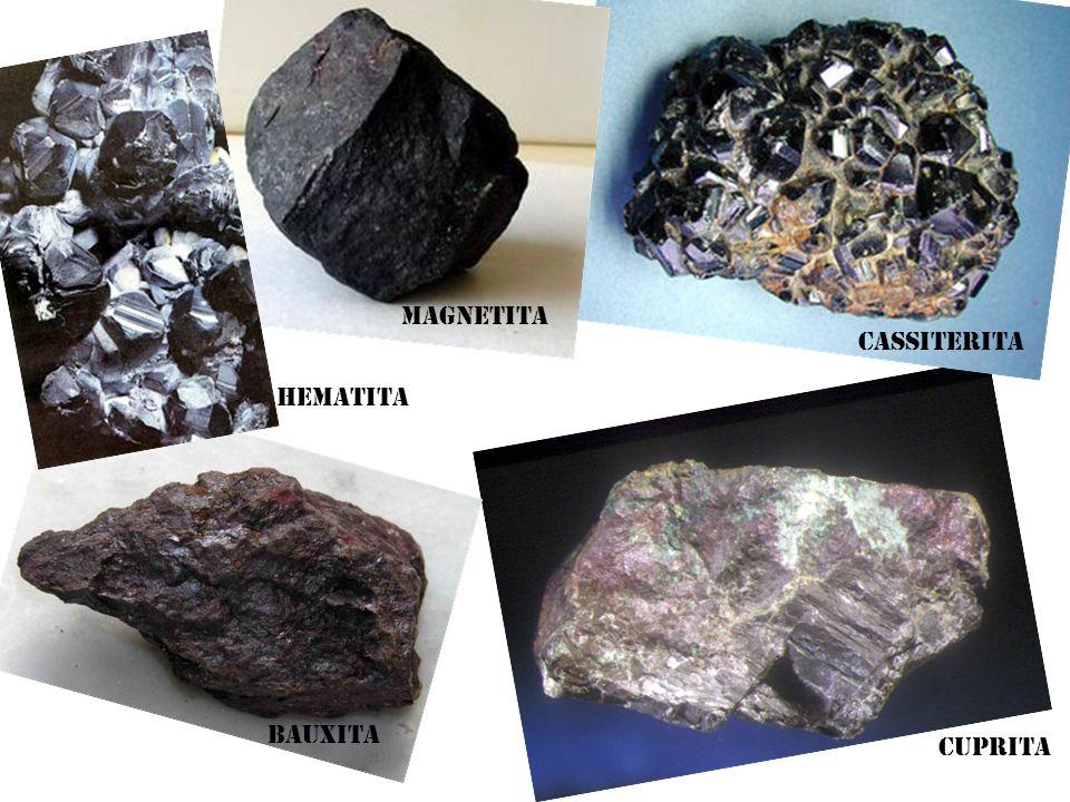 Cassiterita Hematita Magnetita Cuprita Bauxita
