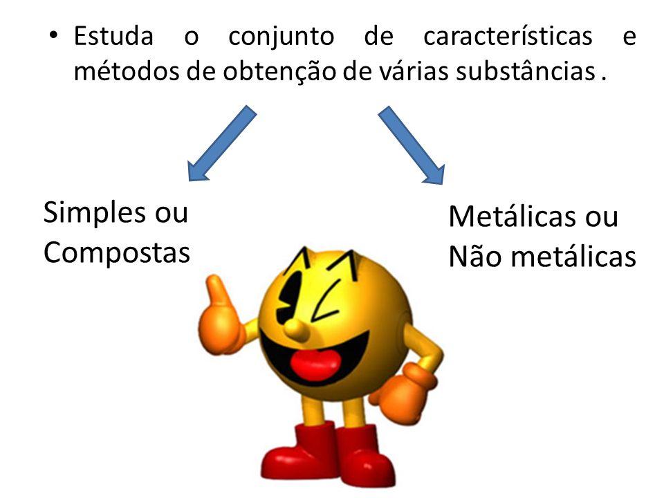 Simples ou Metálicas ou Compostas Não metálicas