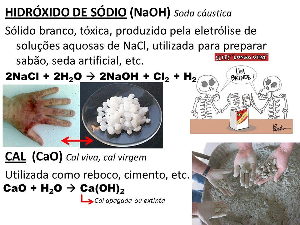 HIDRÓXIDO DE SÓDIO (NaOH) Soda cáustica