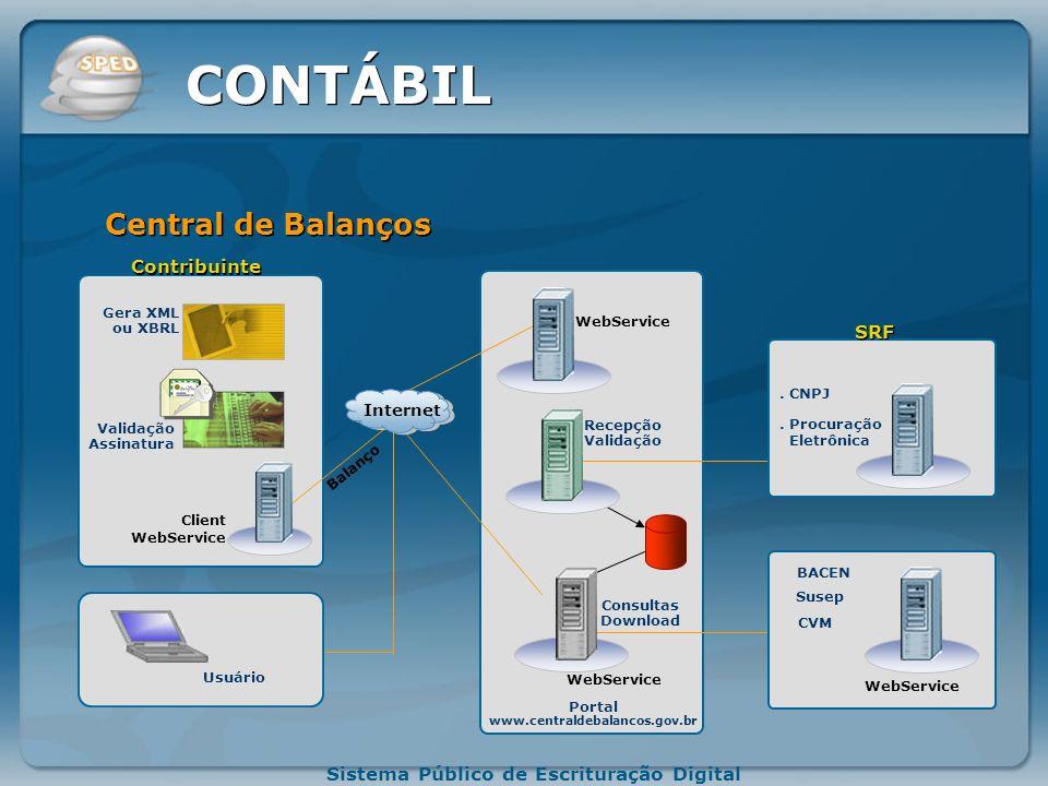 CONTÁBIL Central de Balanços Contribuinte SRF Internet