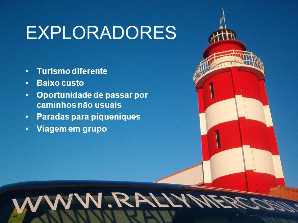 EXPLORADORES Turismo diferente Baixo custo