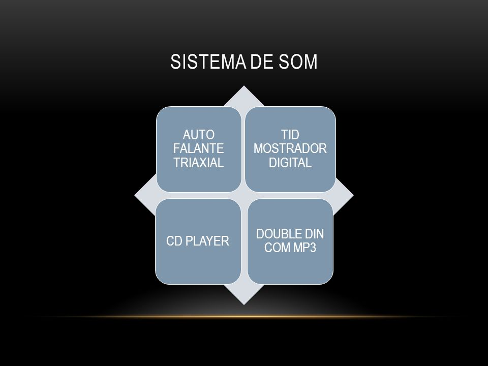 SISTEMA DE SOM AUTO FALANTE TRIAXIAL TID MOSTRADOR DIGITAL CD PLAYER