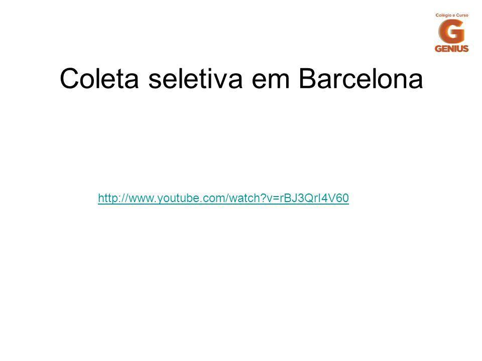 Coleta seletiva em Barcelona