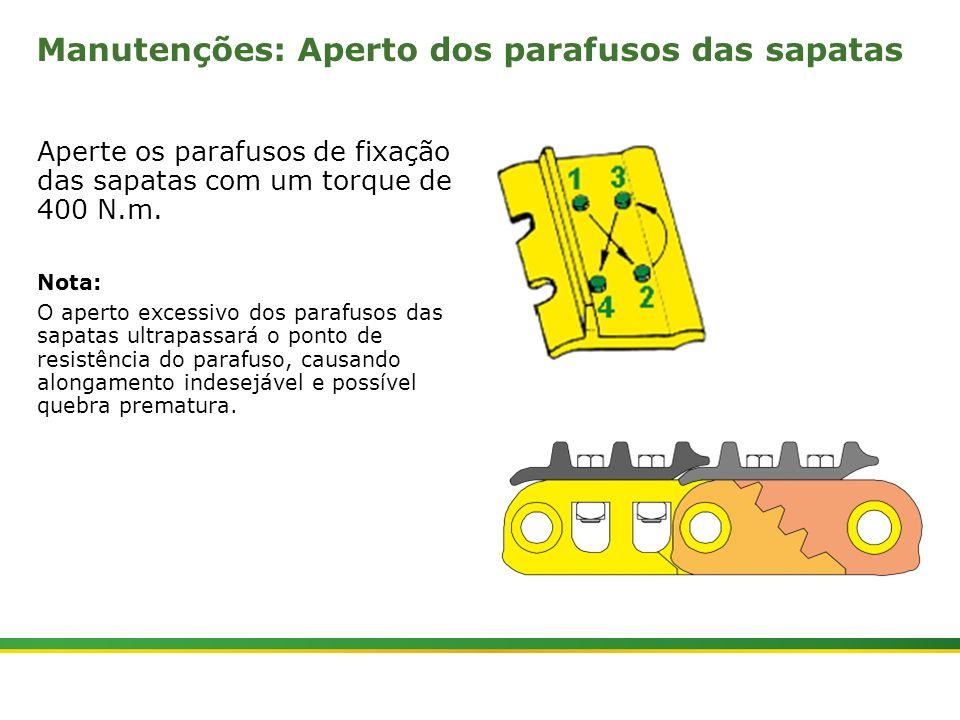Manutenções: Aperto dos parafusos das sapatas