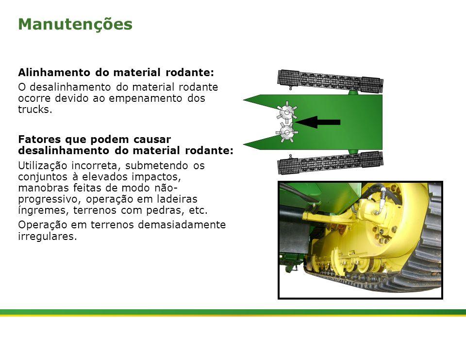 Manutenções Alinhamento do material rodante: