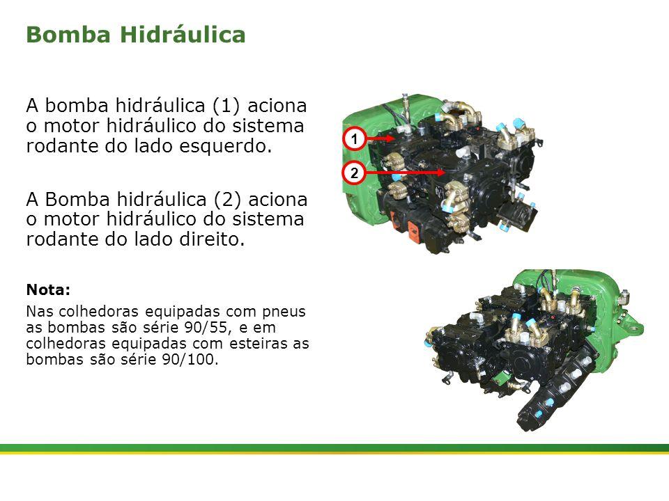 Bomba Hidráulica A bomba hidráulica (1) aciona o motor hidráulico do sistema rodante do lado esquerdo.
