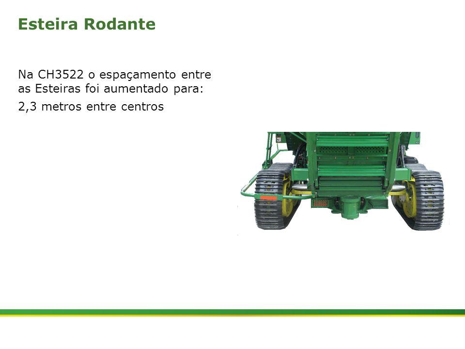 Esteira Rodante Na CH3522 o espaçamento entre as Esteiras foi aumentado para: 2,3 metros entre centros.