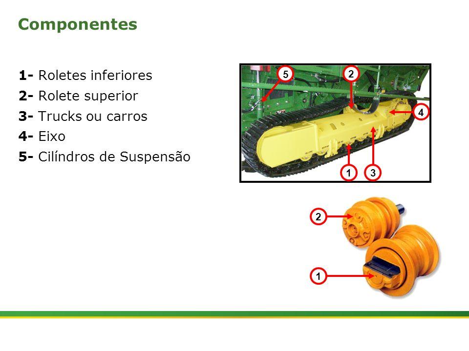Componentes 1- Roletes inferiores 2- Rolete superior