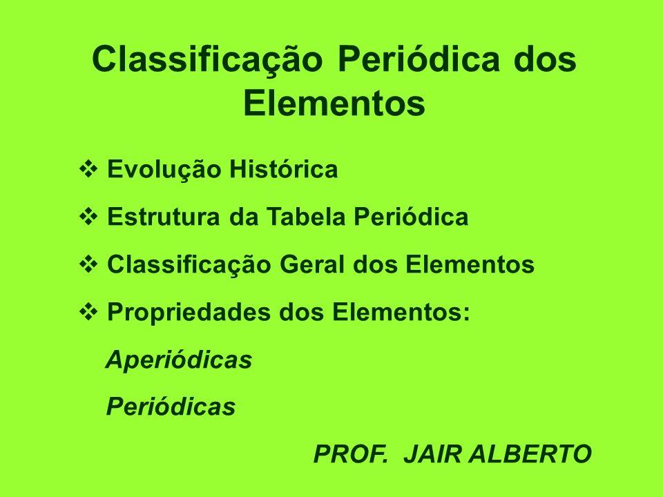 Classificação Periódica dos Elementos