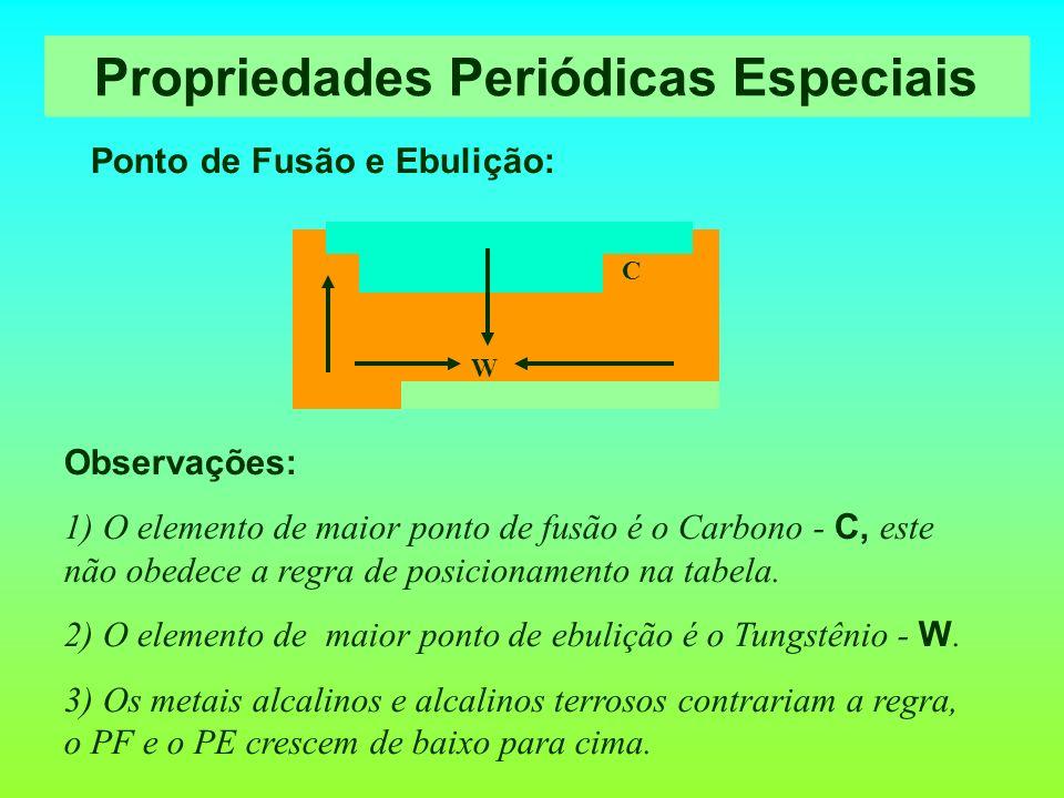 Propriedades Periódicas Especiais