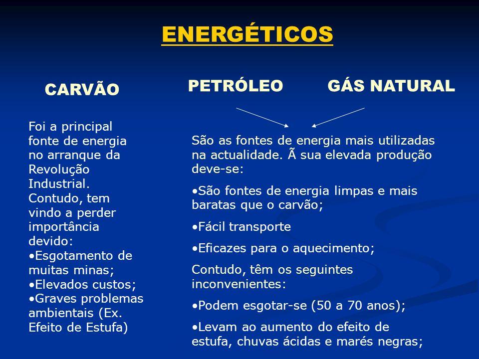 ENERGÉTICOS PETRÓLEO GÁS NATURAL CARVÃO