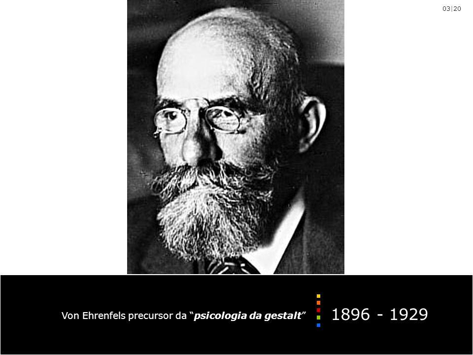 03|20 1896 - 1929 Von Ehrenfels precursor da psicologia da gestalt