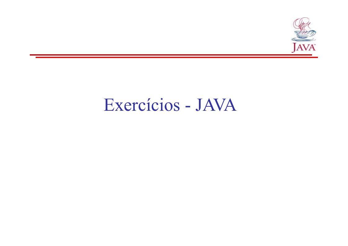 Exercícios - JAVA