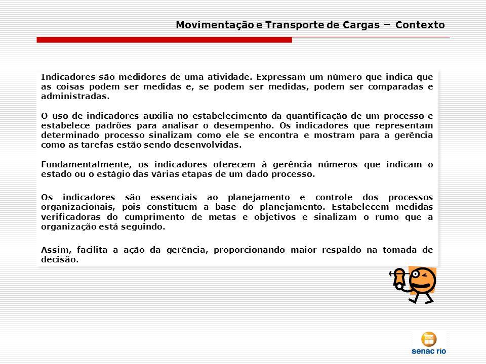 Movimentação e Transporte de Cargas – Contexto