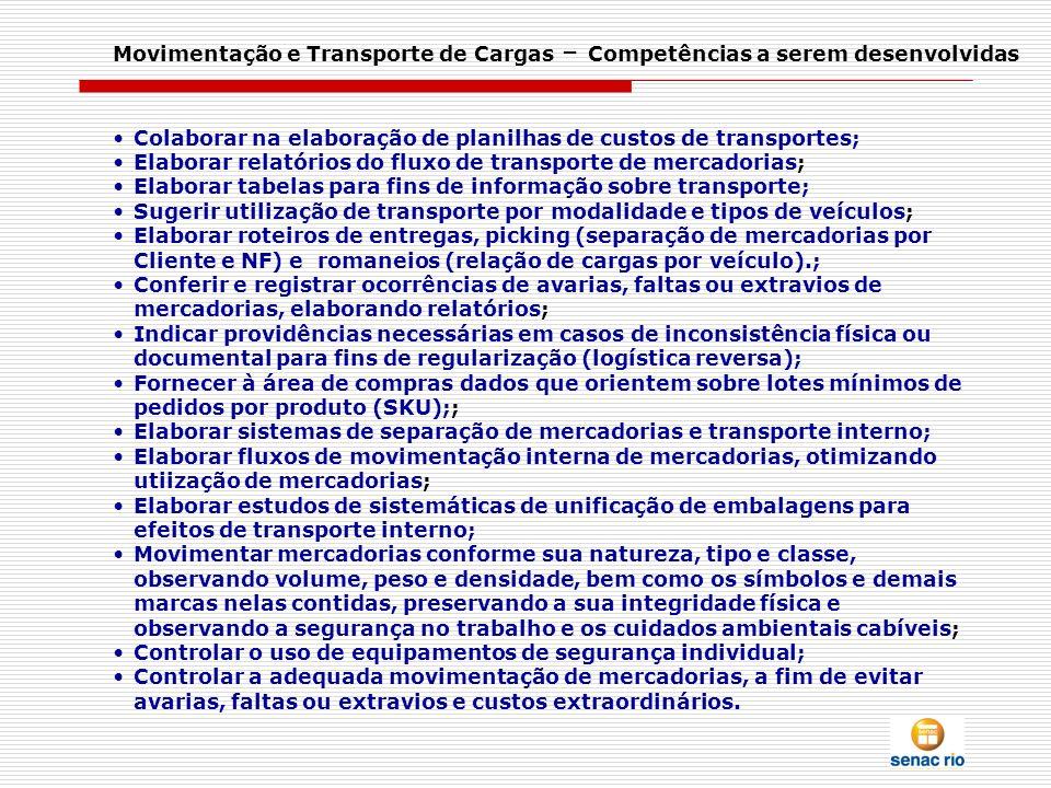 Movimentação e Transporte de Cargas – Competências a serem desenvolvidas