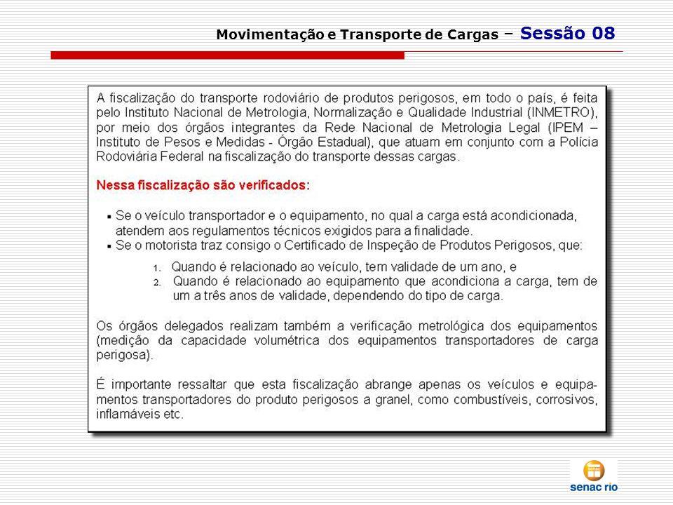 Movimentação e Transporte de Cargas – Sessão 08