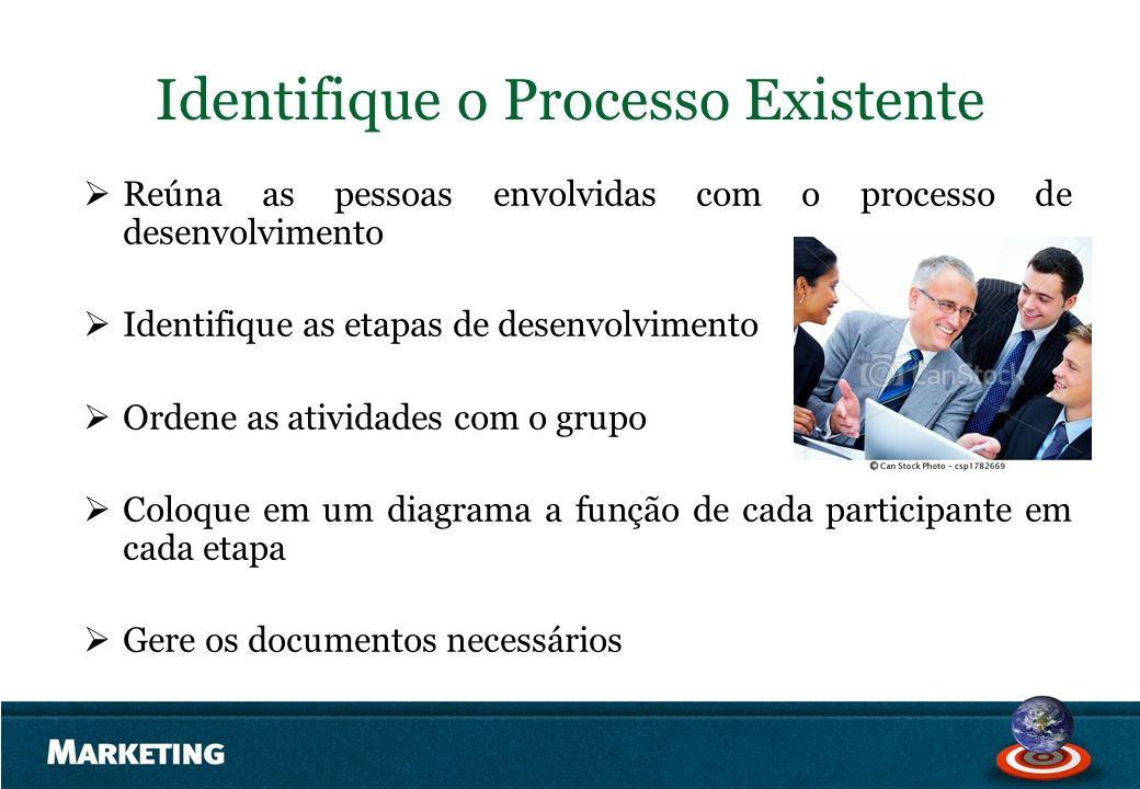 Identifique o Processo Existente
