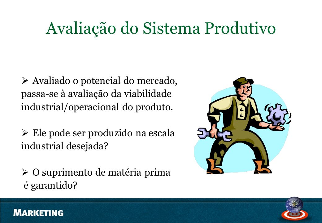 Avaliação do Sistema Produtivo