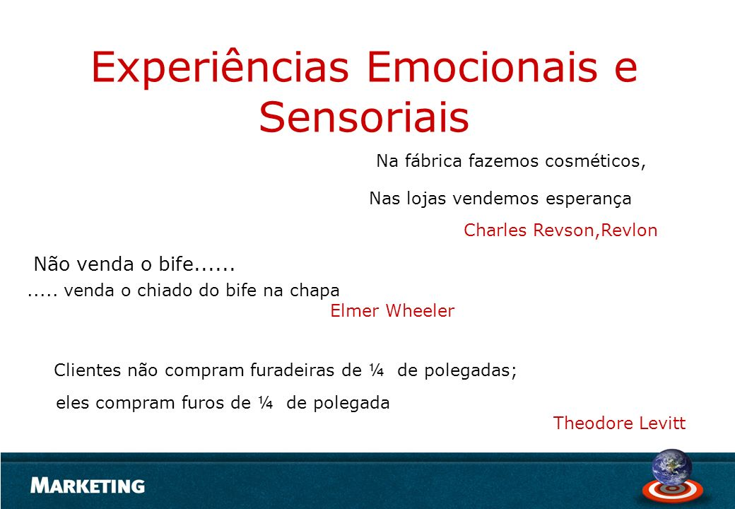 Experiências Emocionais e Sensoriais