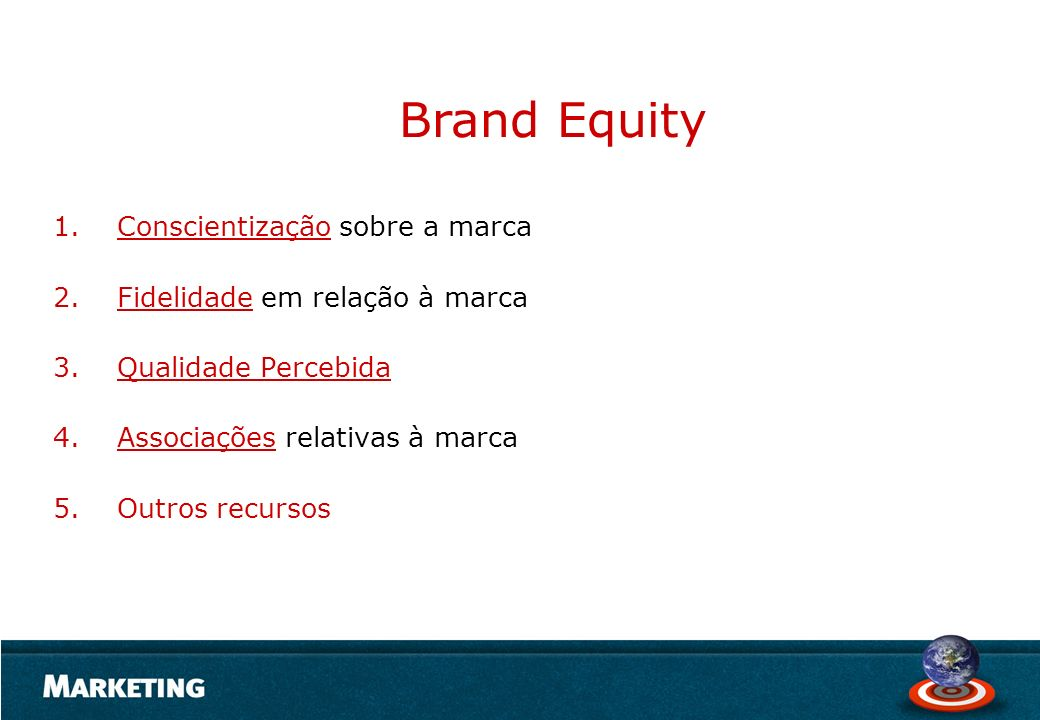 Brand Equity Conscientização sobre a marca