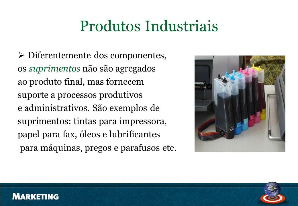 Produtos Industriais Diferentemente dos componentes,
