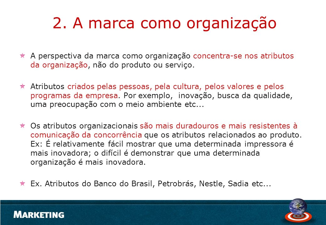 2. A marca como organização