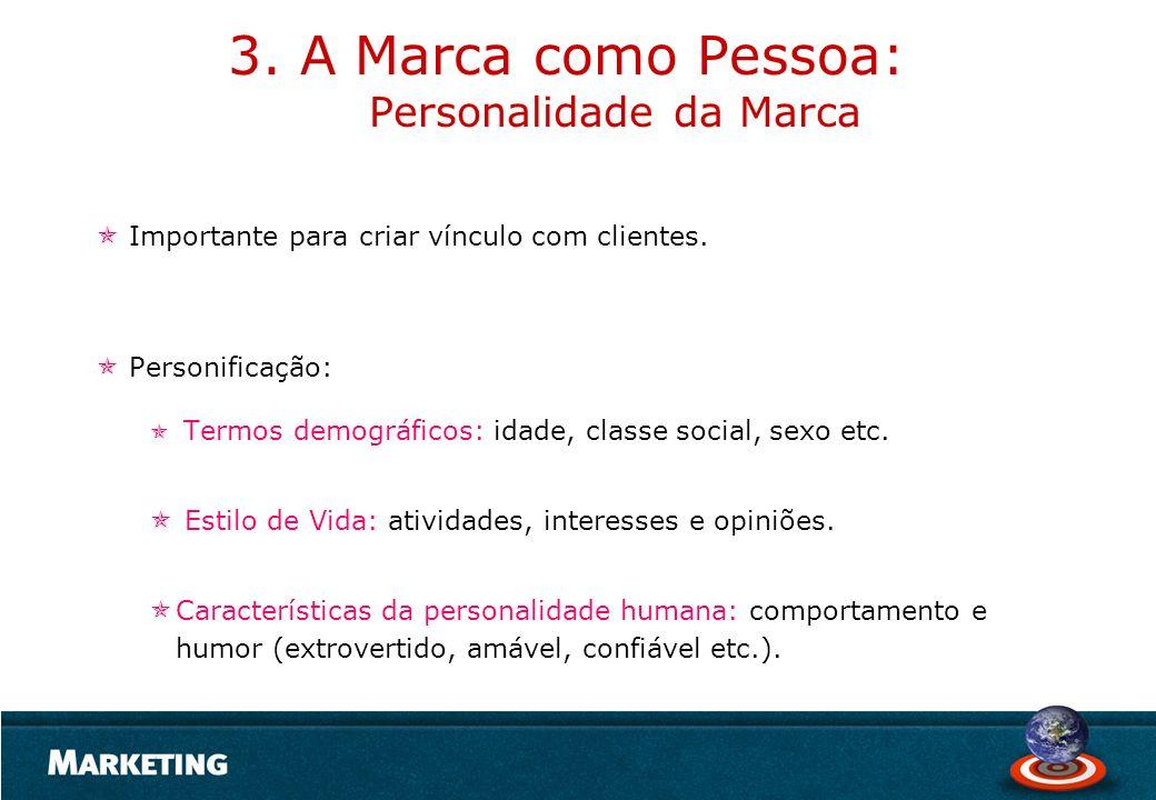 3. A Marca como Pessoa: Personalidade da Marca