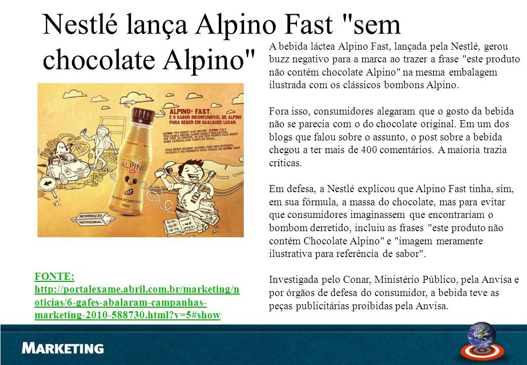 Nestlé lança Alpino Fast sem chocolate Alpino
