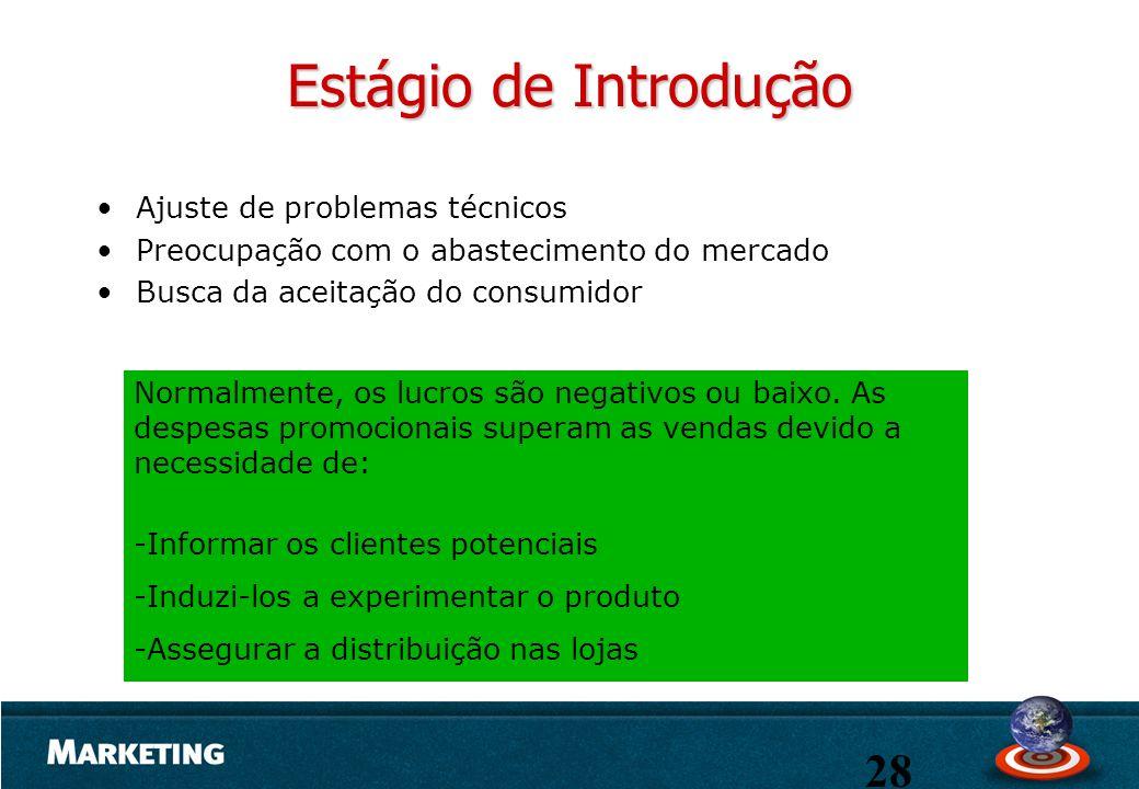 Estágio de Introdução Ajuste de problemas técnicos