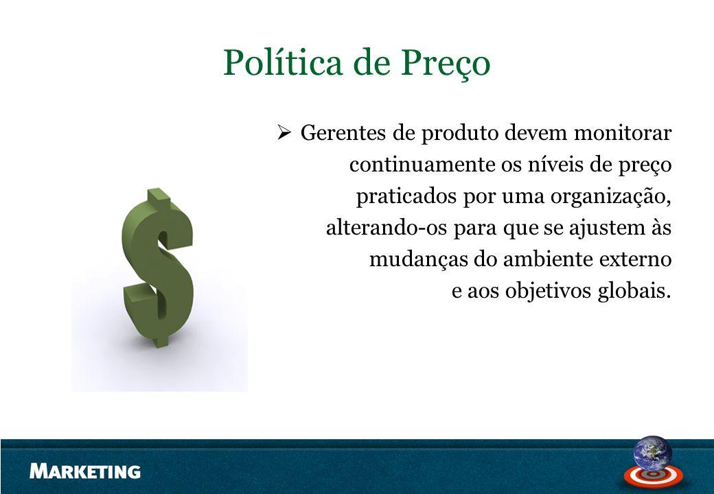 Política de Preço Gerentes de produto devem monitorar