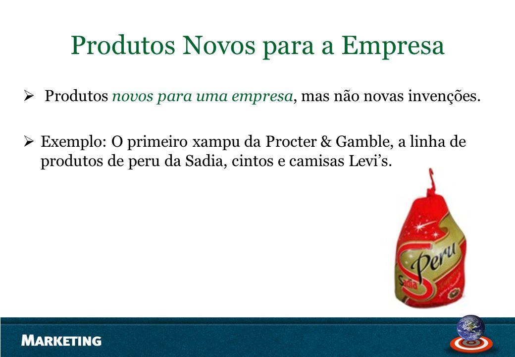Produtos Novos para a Empresa