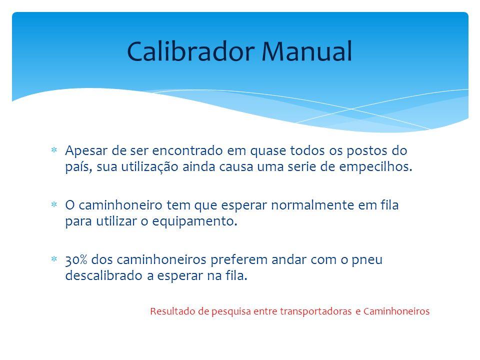 Calibrador Manual Apesar de ser encontrado em quase todos os postos do país, sua utilização ainda causa uma serie de empecilhos.