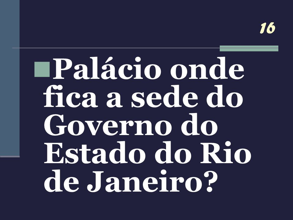 Palácio onde fica a sede do Governo do Estado do Rio de Janeiro