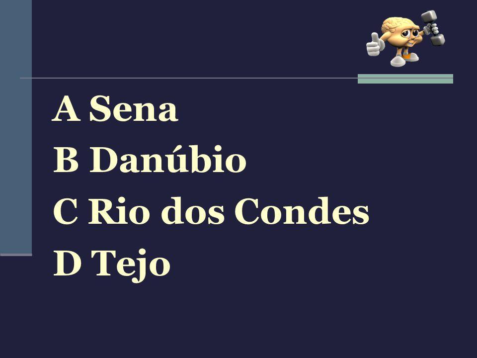 A Sena B Danúbio C Rio dos Condes D Tejo