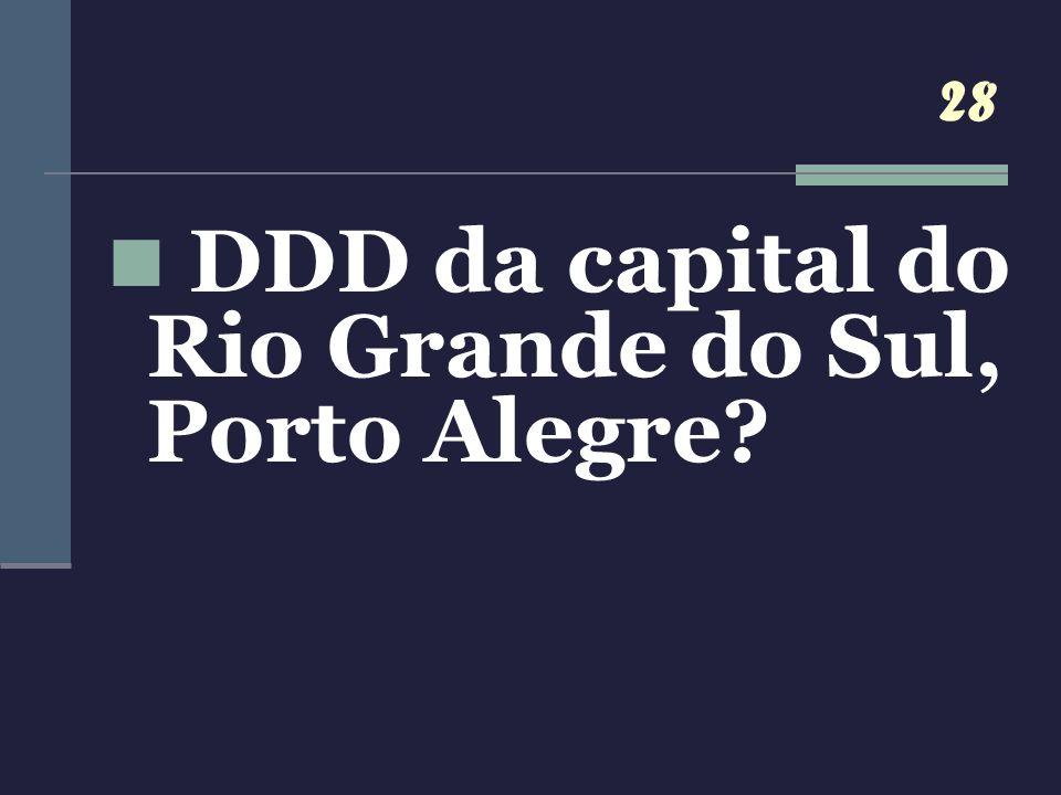 DDD da capital do Rio Grande do Sul, Porto Alegre
