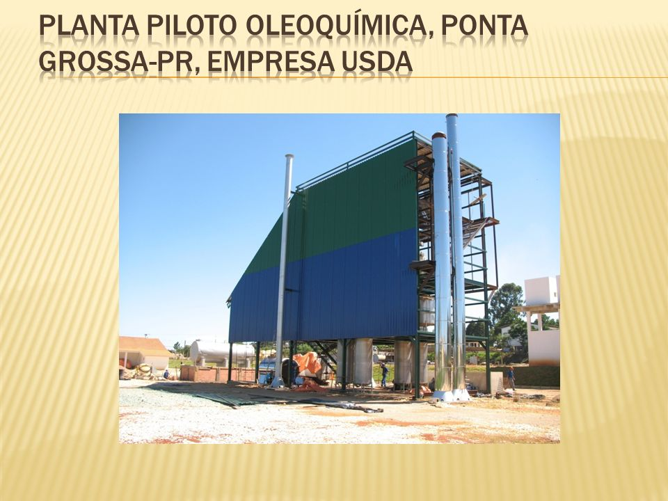 Planta Piloto oleoquímica, ponta grossa-pr, empresa usda